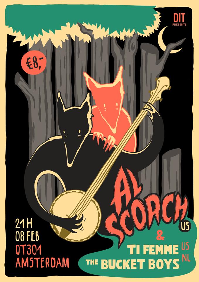 Al Scorch Amsterdam Tour Poster