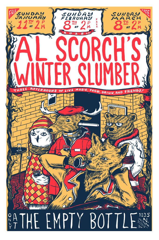 Al Scorch Winter Slumber 2015 Empty Bottle