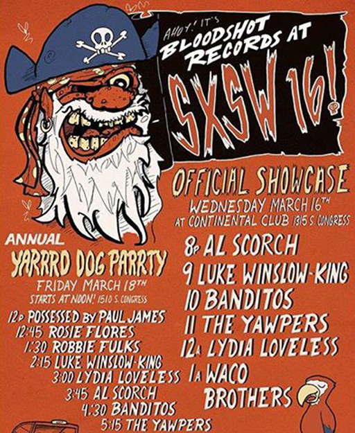 Al Scorch SXSW Austin Yard Dog Party Bloodshot Records
