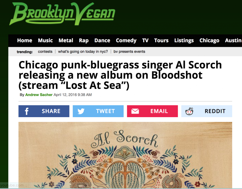 Al Scorch Brooklyn Vegan Punk Bluegrass Article Album