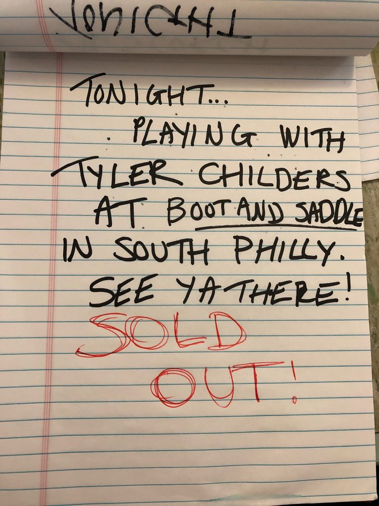 Al Scorch Playing Tyler Childers Show Sold Out Boot and Saddle