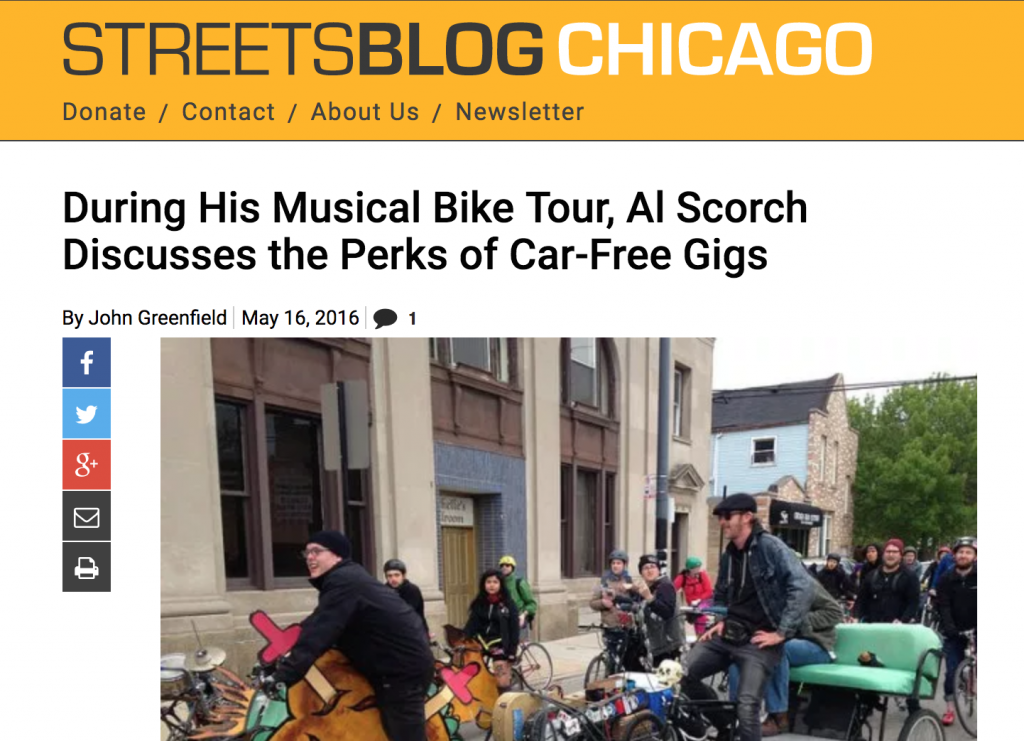 Al Scorch Biking Musical Tour Streets Blog Chicago