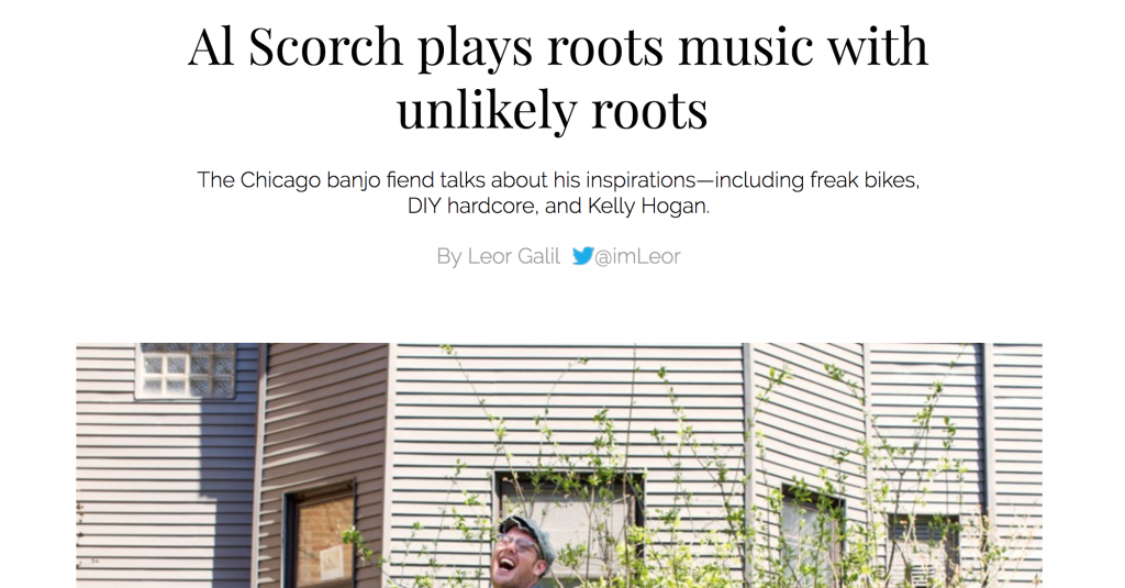 Al Scorch Chicago Reader Article Roots Music Bloodshot Records