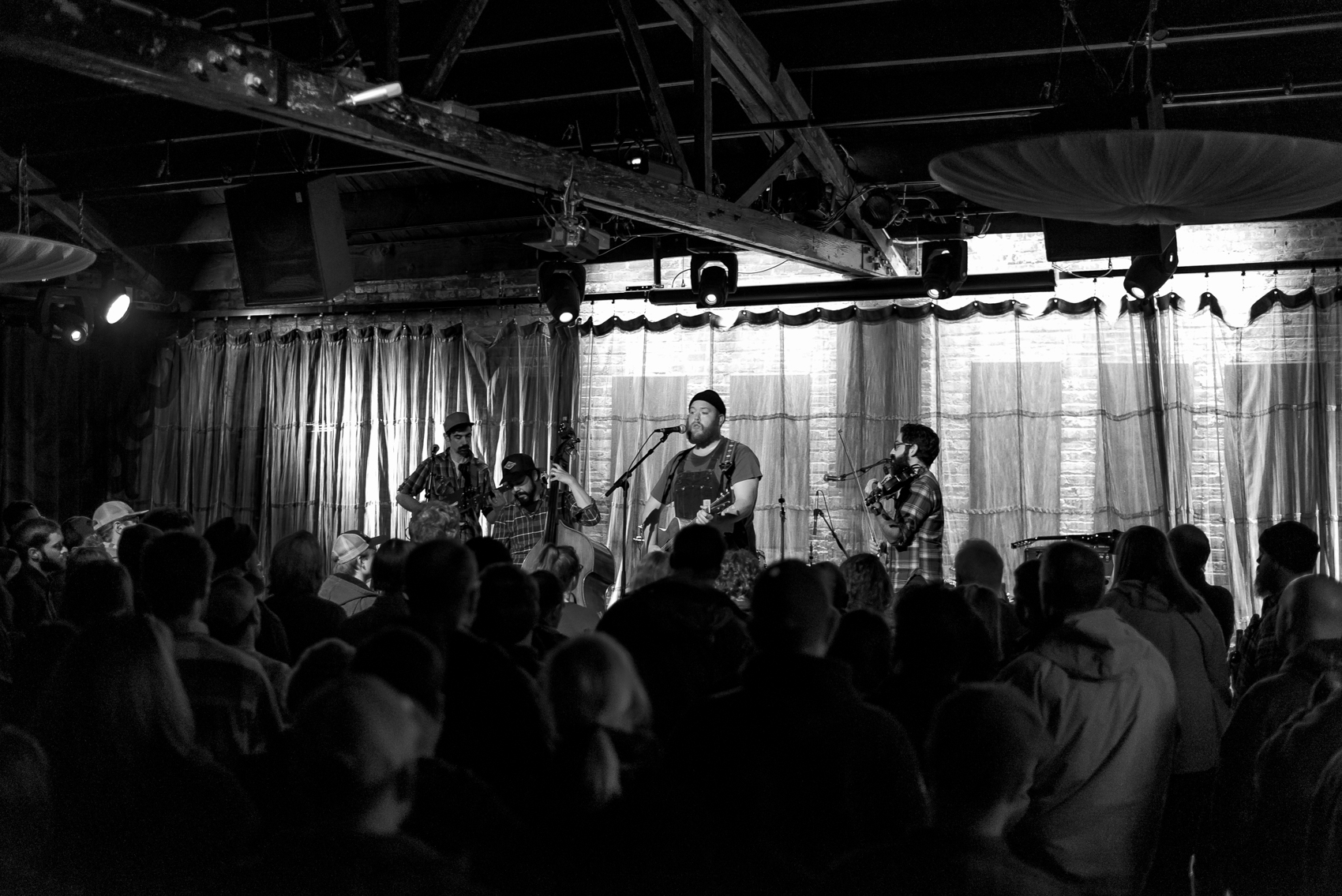 Al Scorch band onstage at SPACE Evanston Feb 11 2018 with Tyler Childers Photo by Victoria Sanders